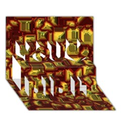 Metalart 23 Red Yellow You Did It 3d Greeting Card (7x5)