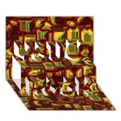 Metalart 23 Red Yellow You Rock 3D Greeting Card (7x5)