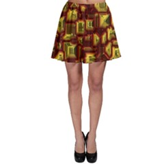 Metalart 23 Red Yellow Skater Skirts