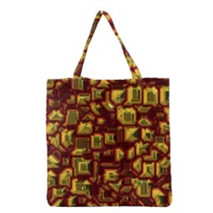 Metalart 23 Red Yellow Grocery Tote Bags