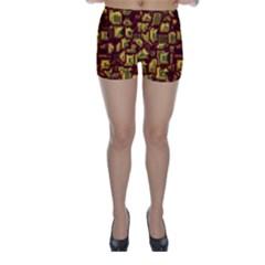 Metalart 23 Red Yellow Skinny Shorts