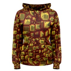 Metalart 23 Red Yellow Women s Pullover Hoodies