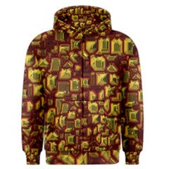 Metalart 23 Red Yellow Men s Zipper Hoodies