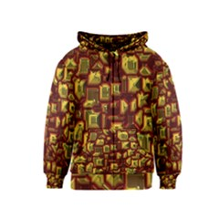 Metalart 23 Red Yellow Kids Zipper Hoodies