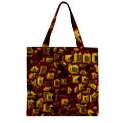 Metalart 23 Red Yellow Zipper Grocery Tote Bags