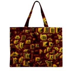 Metalart 23 Red Yellow Zipper Tiny Tote Bags