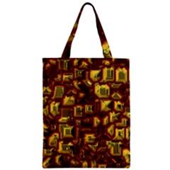 Metalart 23 Red Yellow Zipper Classic Tote Bags