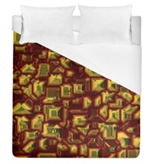 Metalart 23 Red Yellow Duvet Cover Single Side (full/queen Size)