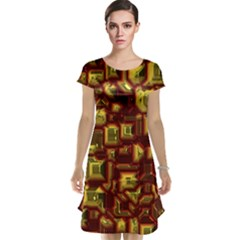 Metalart 23 Red Yellow Cap Sleeve Nightdresses