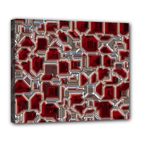 Metalart 23 Red Silver Deluxe Canvas 24  x 20