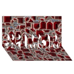 Metalart 23 Red Silver #1 MOM 3D Greeting Cards (8x4)