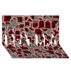 Metalart 23 Red Silver Best Bro 3d Greeting Card (8x4)