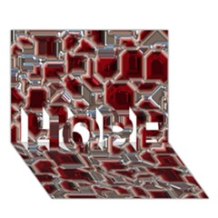 Metalart 23 Red Silver Hope 3d Greeting Card (7x5)