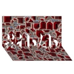 Metalart 23 Red Silver #1 Dad 3d Greeting Card (8x4)