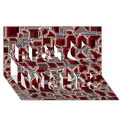 Metalart 23 Red Silver Best Wish 3d Greeting Card (8x4)