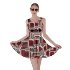 Metalart 23 Red Silver Skater Dresses