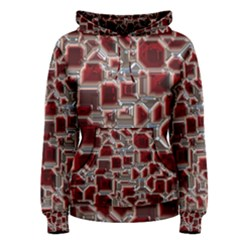 Metalart 23 Red Silver Women s Pullover Hoodies