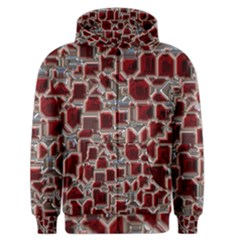 Metalart 23 Red Silver Men s Zipper Hoodies
