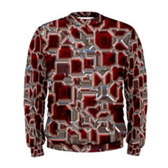 Metalart 23 Red Silver Men s Sweatshirts