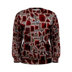 Metalart 23 Red Silver Women s Sweatshirts