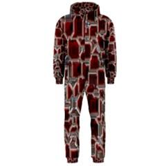 Metalart 23 Red Silver Hooded Jumpsuit (Men)