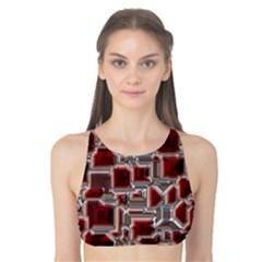 Metalart 23 Red Silver Tank Bikini Top