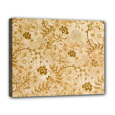 Flower Pattern In Soft  Colors Canvas 14  x 11