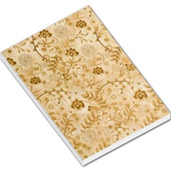 Flower Pattern In Soft  Colors Large Memo Pads