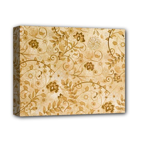 Flower Pattern In Soft  Colors Deluxe Canvas 14  x 11