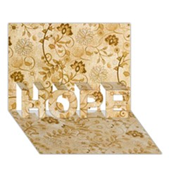 Flower Pattern In Soft  Colors Hope 3d Greeting Card (7x5)