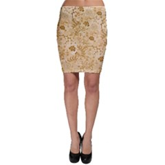 Flower Pattern In Soft  Colors Bodycon Skirts