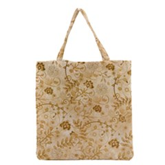 Flower Pattern In Soft  Colors Grocery Tote Bags