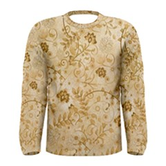 Flower Pattern In Soft  Colors Men s Long Sleeve T-shirts
