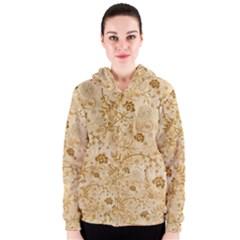 Flower Pattern In Soft  Colors Women s Zipper Hoodies