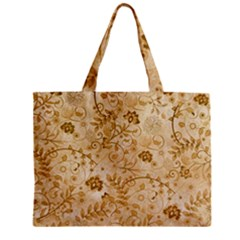 Flower Pattern In Soft  Colors Zipper Tiny Tote Bags