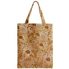 Flower Pattern In Soft  Colors Zipper Classic Tote Bags
