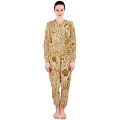 Flower Pattern In Soft  Colors Onepiece Jumpsuit (ladies)