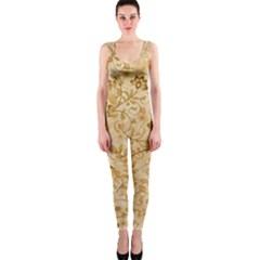 Flower Pattern In Soft  Colors OnePiece Catsuits