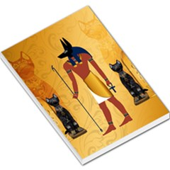Anubis, Ancient Egyptian God Of The Dead Rituals  Large Memo Pads