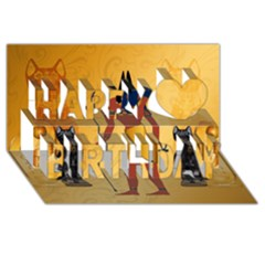 Anubis, Ancient Egyptian God Of The Dead Rituals  Happy Birthday 3D Greeting Card (8x4)