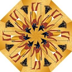 Anubis, Ancient Egyptian God Of The Dead Rituals  Hook Handle Umbrellas (Medium)