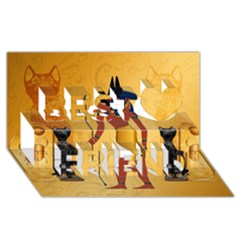 Anubis, Ancient Egyptian God Of The Dead Rituals  Best Friends 3d Greeting Card (8x4)