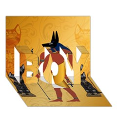 Anubis, Ancient Egyptian God Of The Dead Rituals  Boy 3d Greeting Card (7x5)