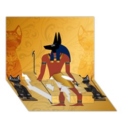 Anubis, Ancient Egyptian God Of The Dead Rituals  LOVE Bottom 3D Greeting Card (7x5)