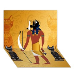 Anubis, Ancient Egyptian God Of The Dead Rituals  Apple 3D Greeting Card (7x5)