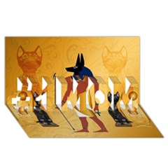 Anubis, Ancient Egyptian God Of The Dead Rituals  #1 MOM 3D Greeting Cards (8x4)