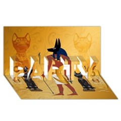 Anubis, Ancient Egyptian God Of The Dead Rituals  PARTY 3D Greeting Card (8x4)