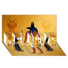 Anubis, Ancient Egyptian God Of The Dead Rituals  BELIEVE 3D Greeting Card (8x4)
