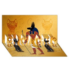 Anubis, Ancient Egyptian God Of The Dead Rituals  ENGAGED 3D Greeting Card (8x4)