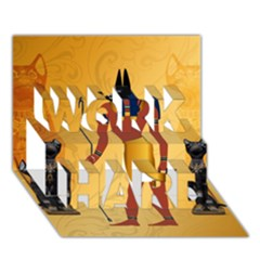 Anubis, Ancient Egyptian God Of The Dead Rituals  WORK HARD 3D Greeting Card (7x5)